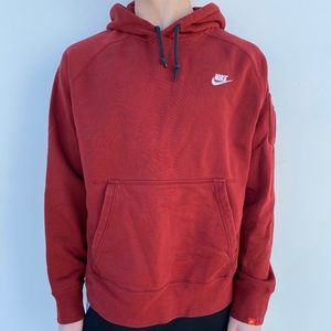 Red and White Nike Hoodie X-Large